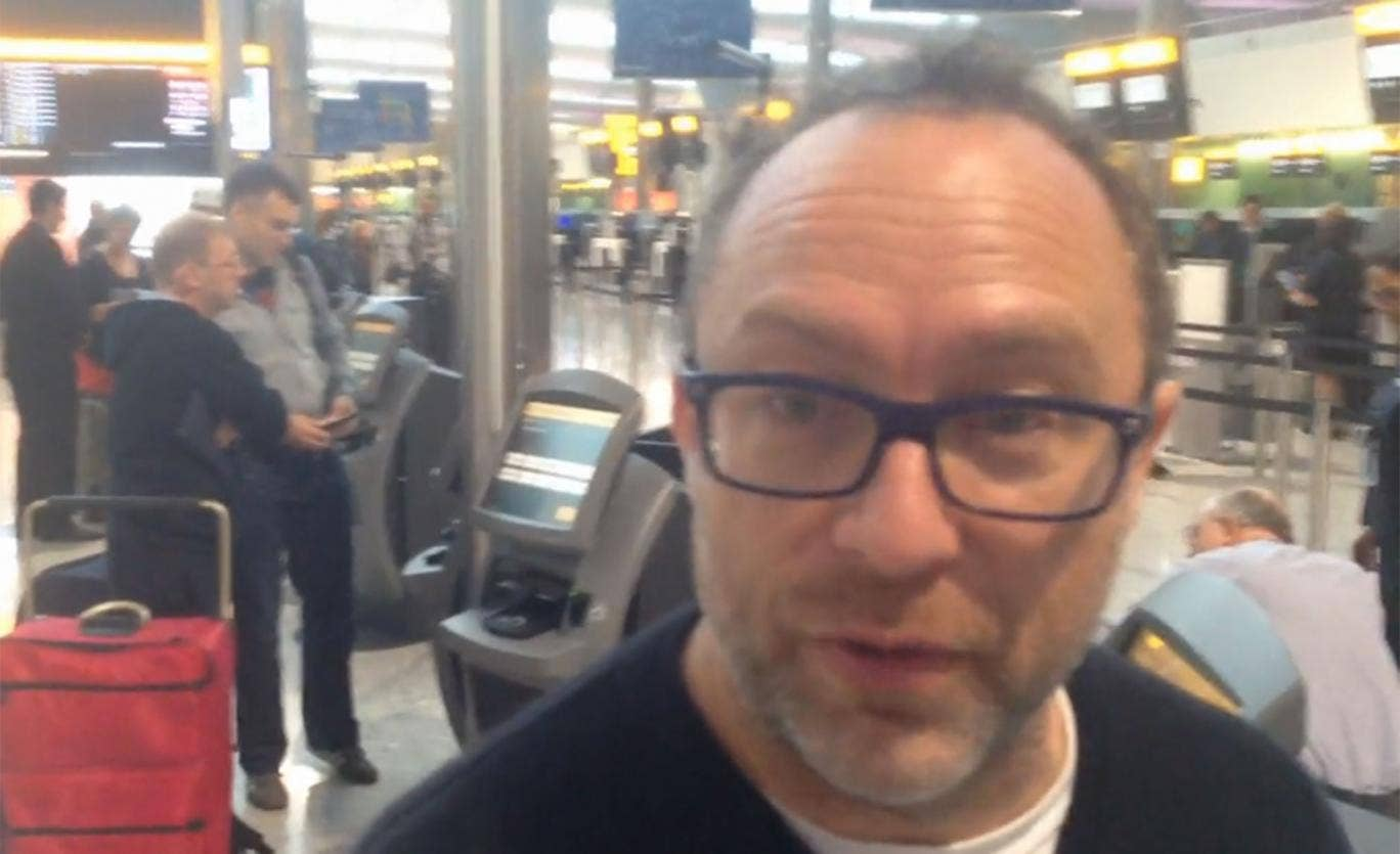 Wikipedia founder Jimmy Wales at Heathrow's newly-opened Terminal 2