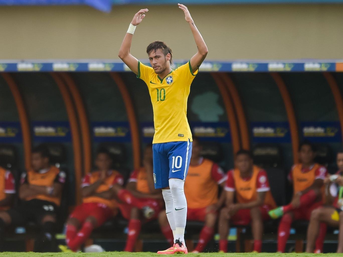 Neymar celebrates his goal against Panama on Tuesday night