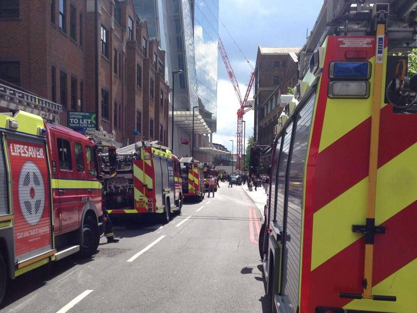 Witnesses outside the Shard praised the rapid response from fire services, which are investigating reports of smoke in the basement