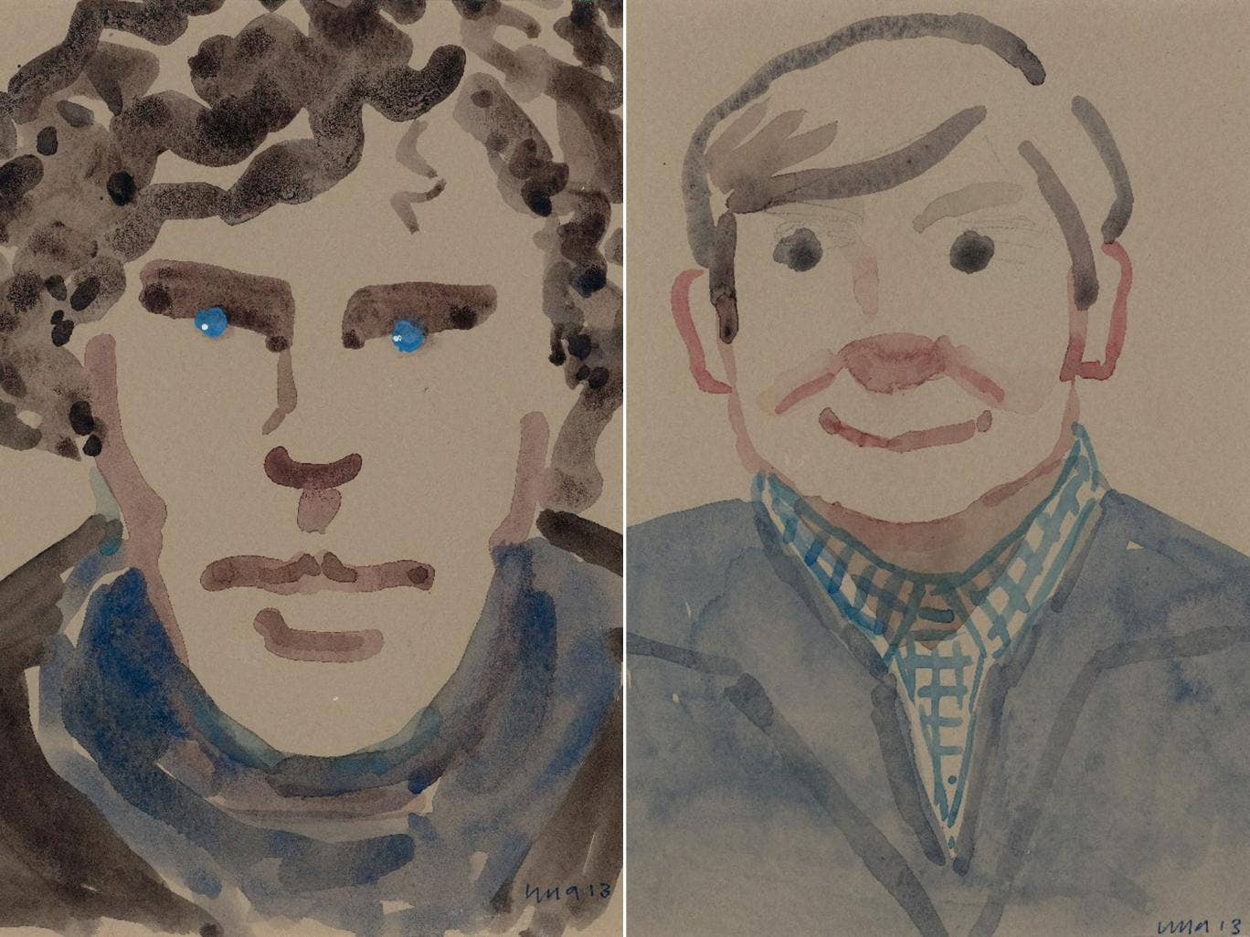 Una Stubbs' paintings of Sherlock co-stars Benedict Cumberbatch and Martin Freeman will be on display at the Summer Exhibition
