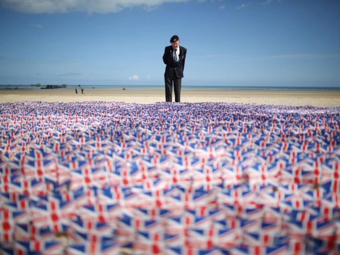 WW2 veteran Fred Holborn, from the Fleet Air Arm, on Gold beach