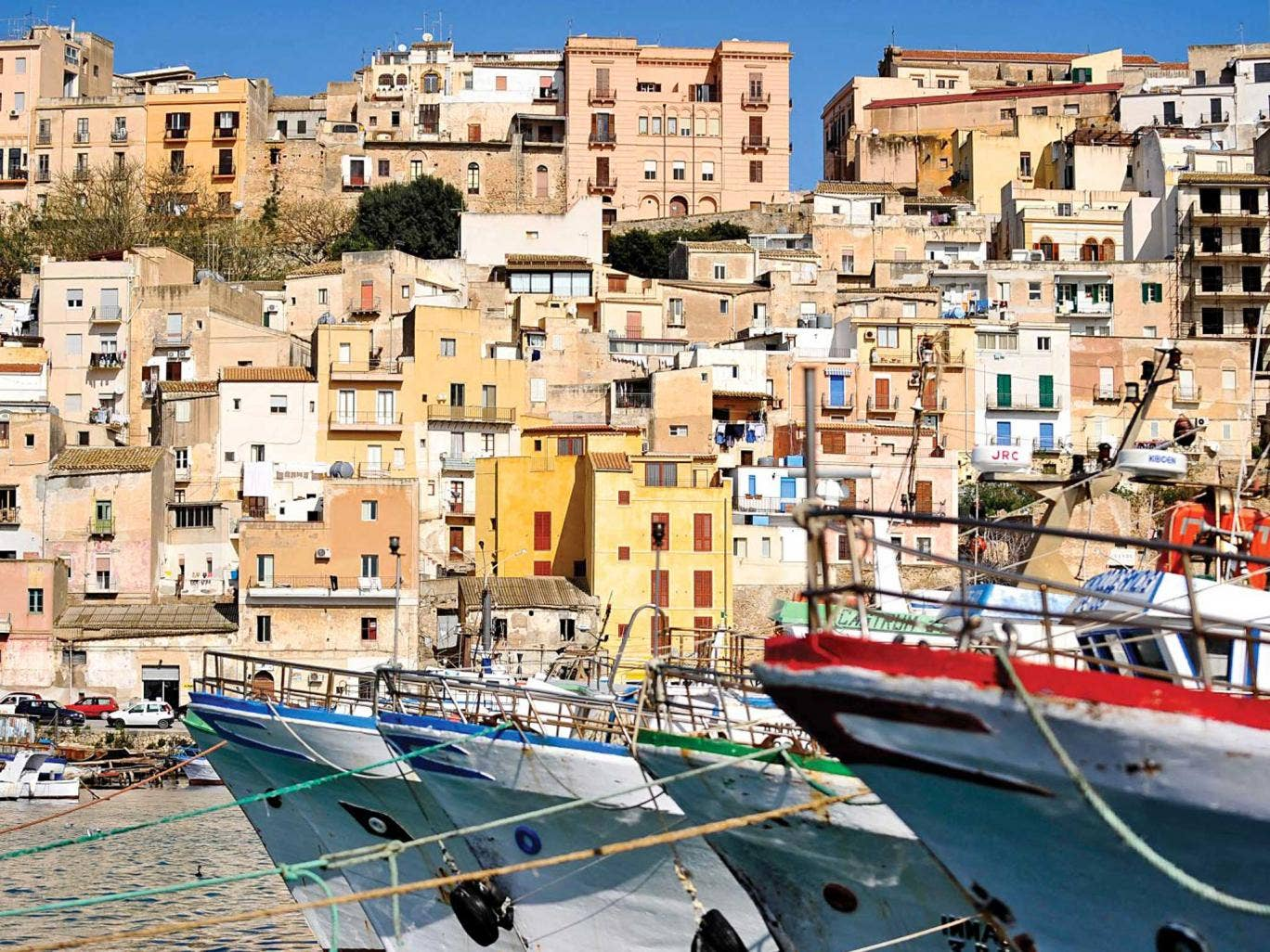Sea here: the harbour at Sciacca