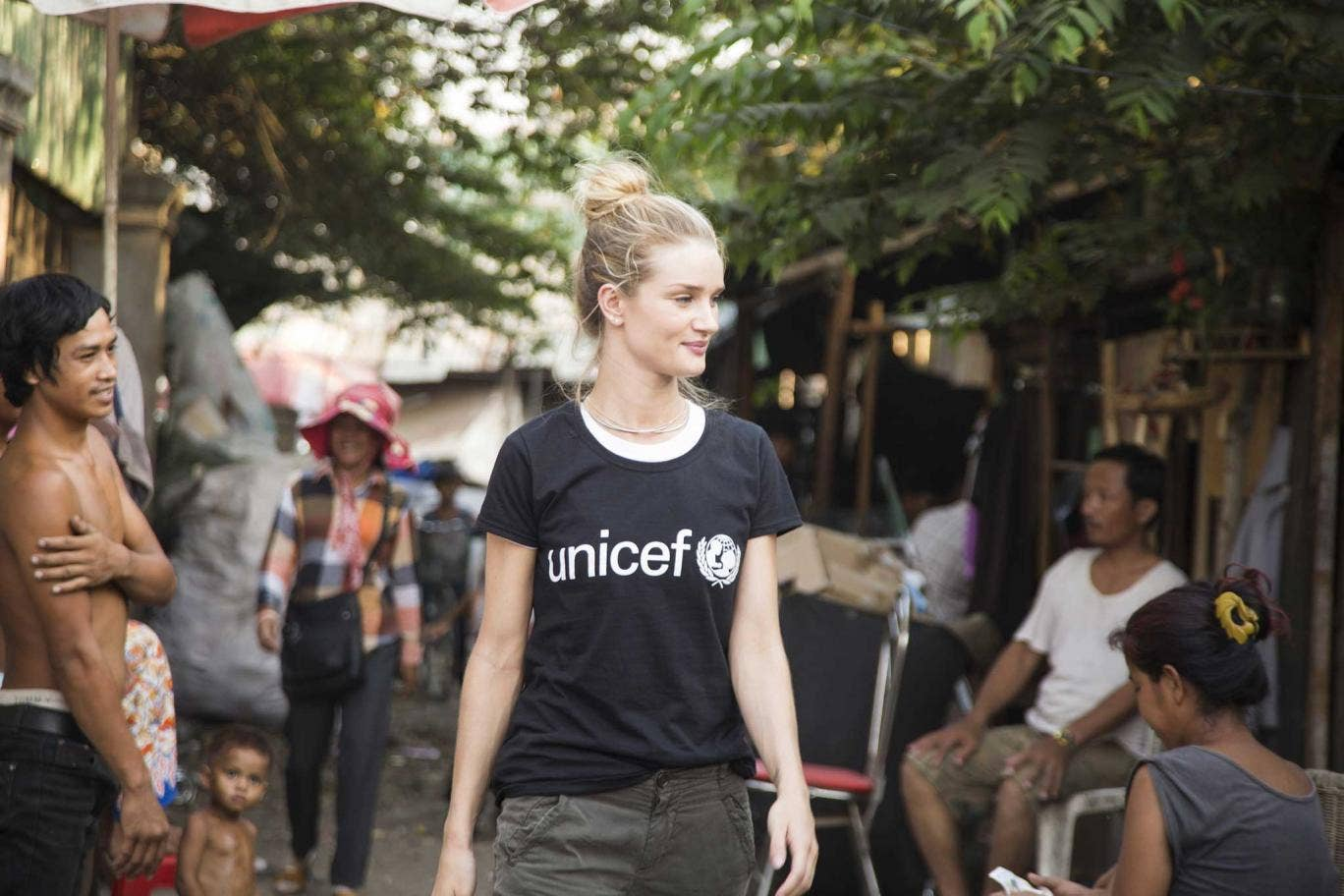 Humbling experience: Rosie visited Phnom Penh in Cambodia for Unicef