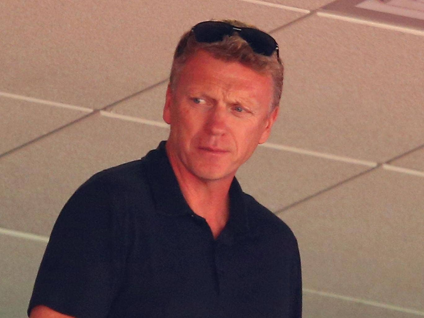 David Moyes looks on from the stands during the International friendly match between Ecuador and England