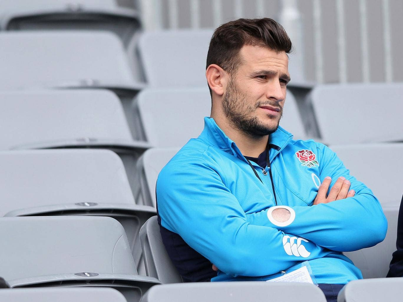 Danny Care with the England squad