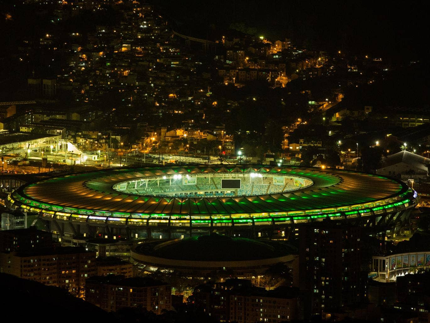 A view of the Maracana which will host the World Cup final