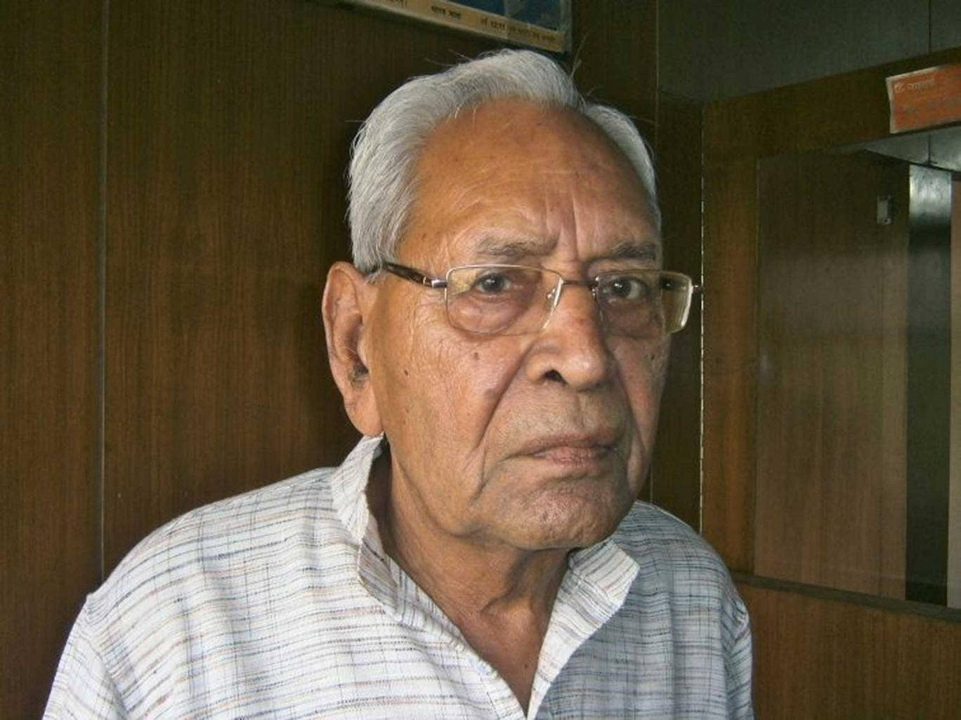 Crusader: Dinanath Batra, who, like India's new premier, once belonged to the right-wing