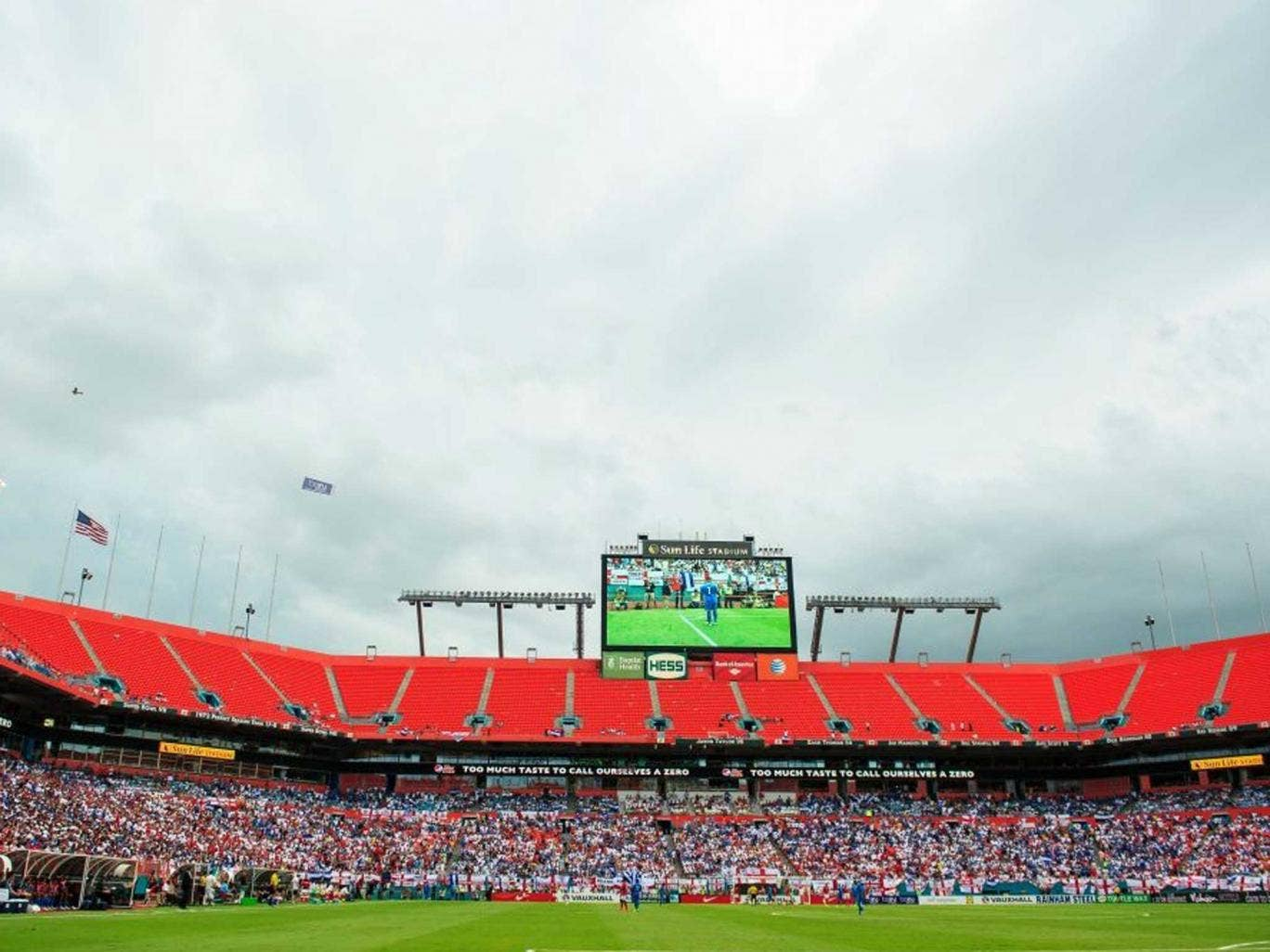 Clouds gather over the stadium