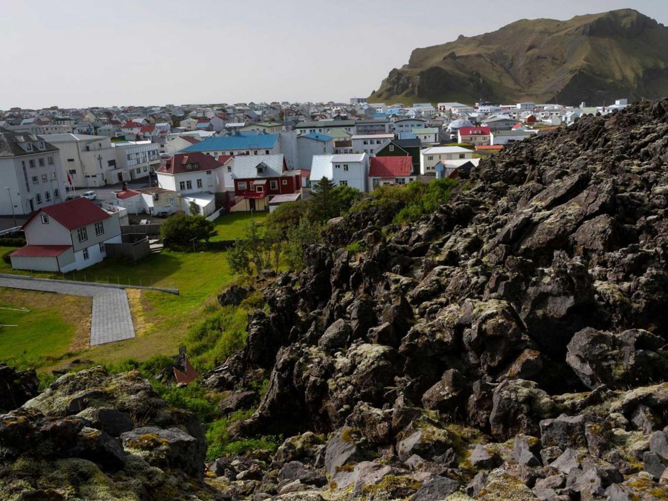 Rock on: Lava outside Vestmannaeyjar