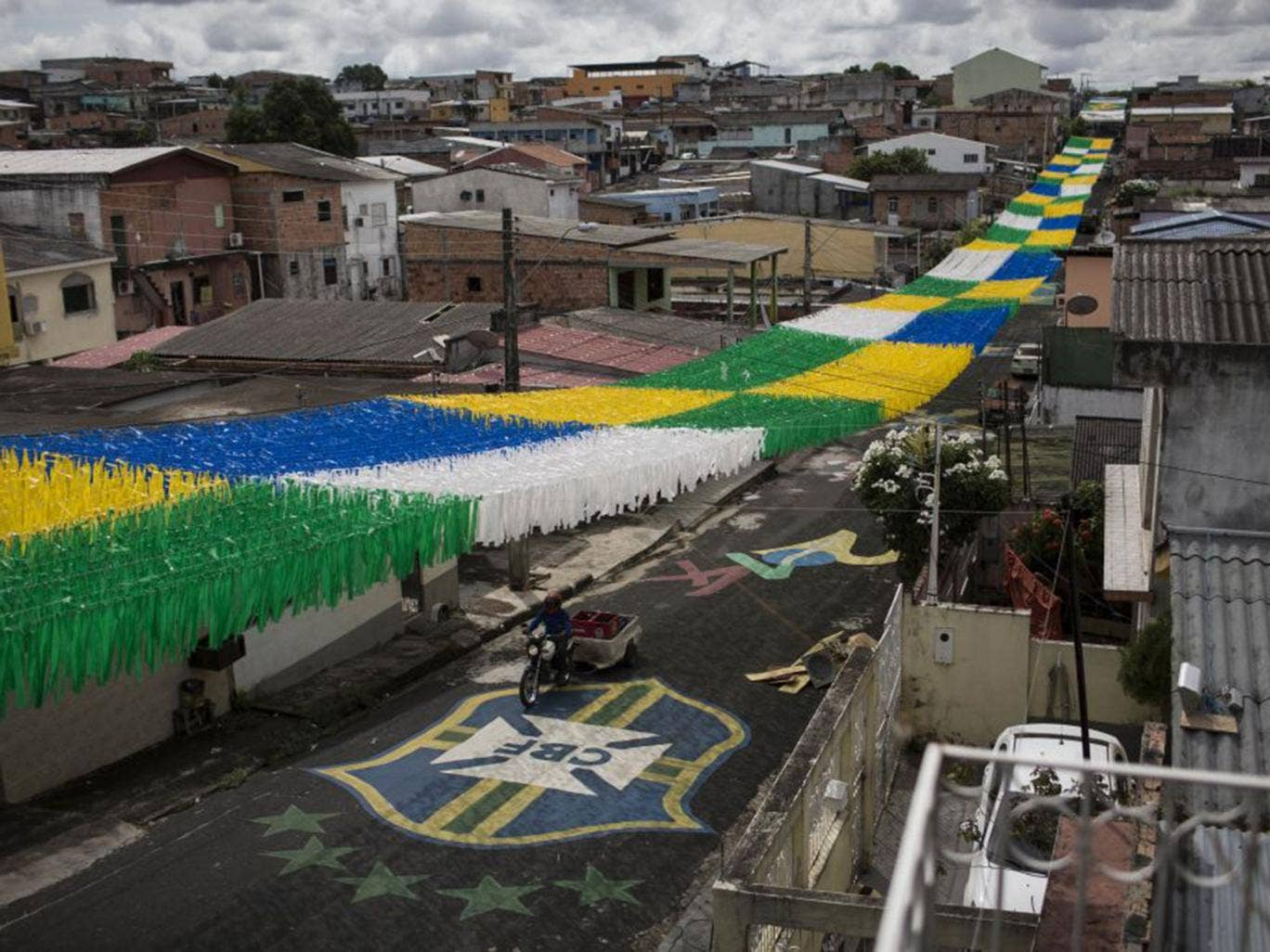 The streets of Manaus have been decorated ahead of the World Cup