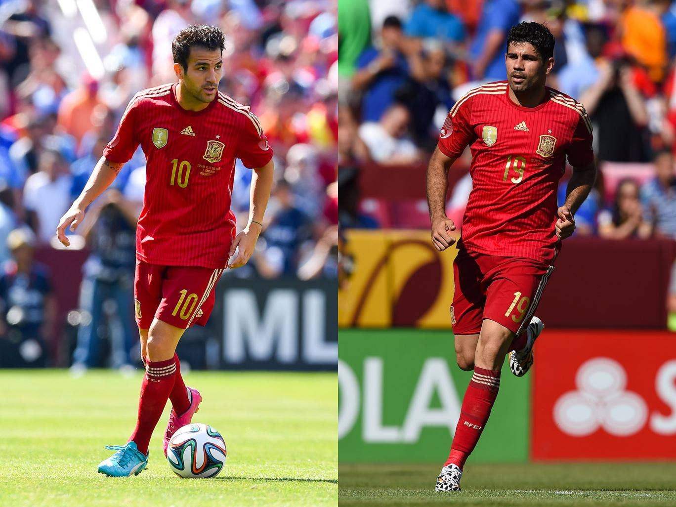 Cesc Fabregas and Diego Costa could both join Chelsea this week