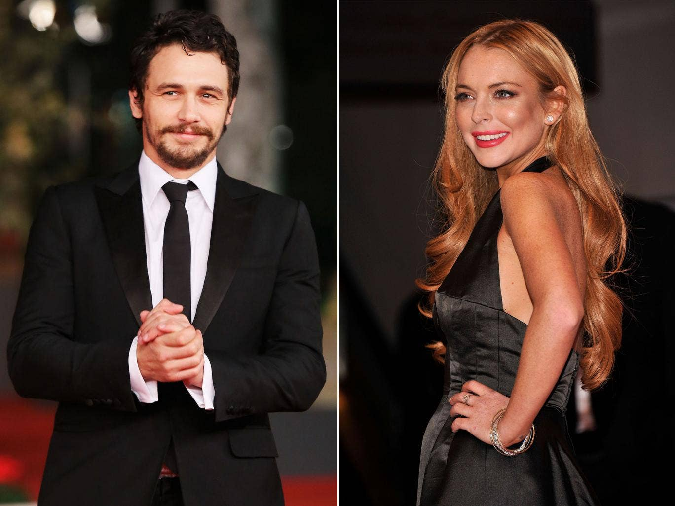James Franco and Lindsay Lohan did not sleep together according to Franco, after Lohan published a list of her past lovers