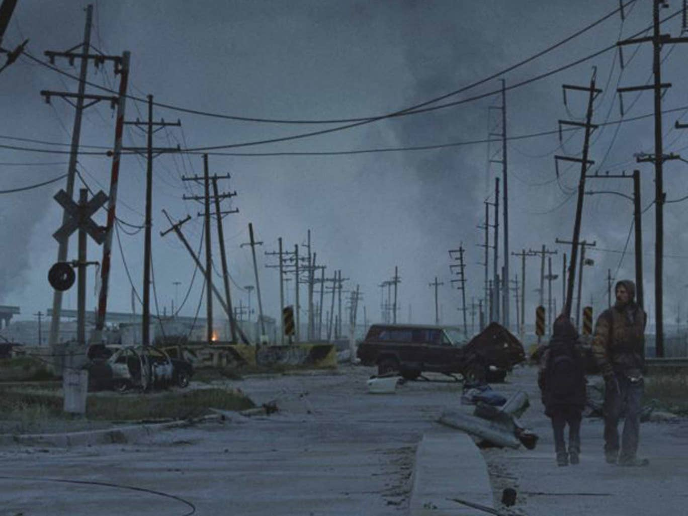 Apocalypse now? a scene from the film of Cormac McCarthy's 'The Road'