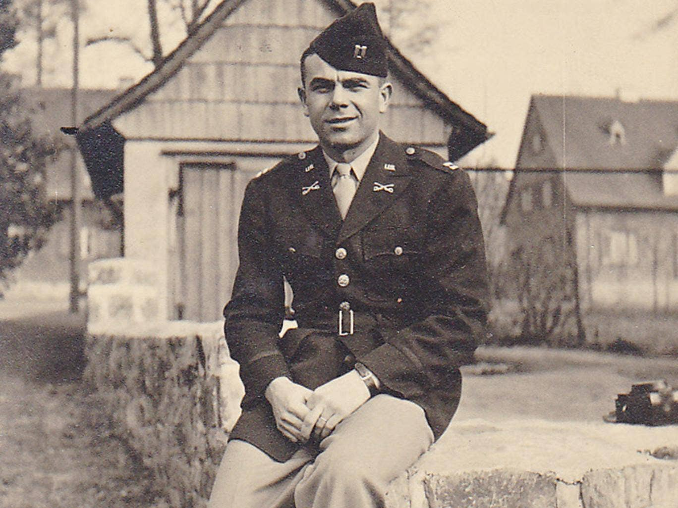 Dolibois: he served in a tank unit before officials heard his fluent German