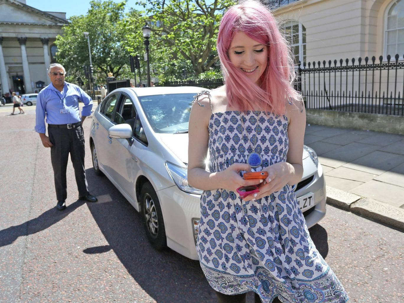 Chloe Hamilton summoned Uber driver Masood in six minutes, using the app on her smartphone
