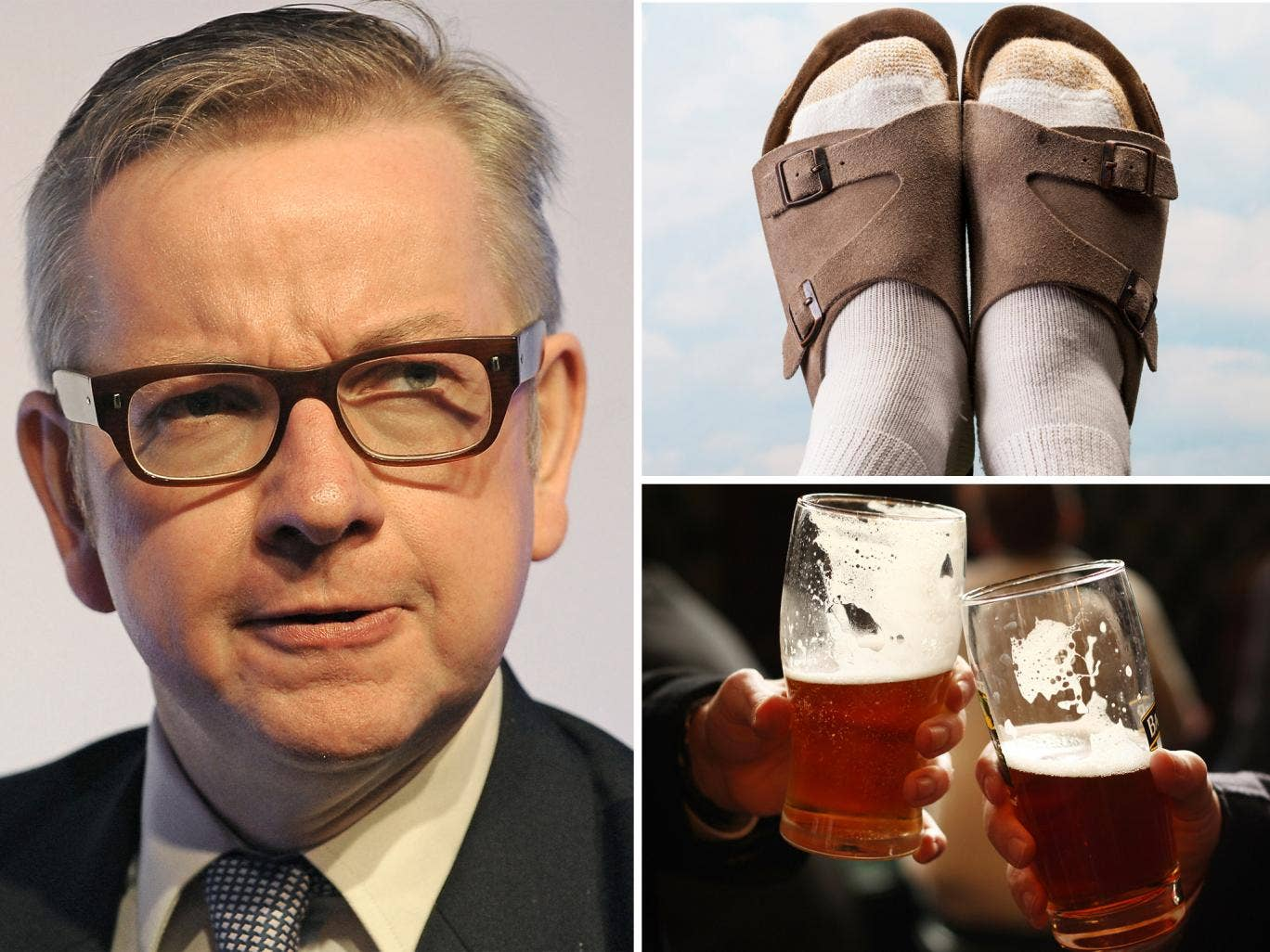 Socks and sandals and warm beer were among the British values suggested by Twitter users in response to Michael Gove's announcement