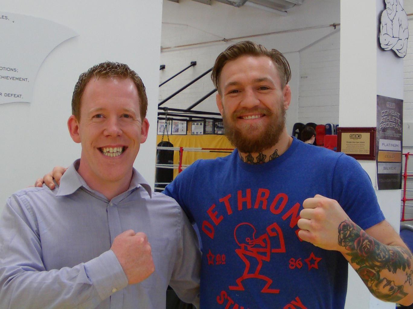 Conor McGregor with reported Brian Mallon