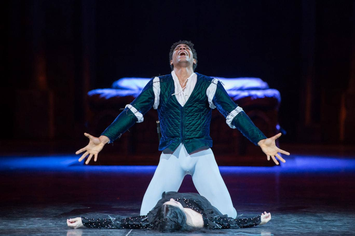 Carlos Acosta plays Romeo in the Royal Albert Hall's in the round production