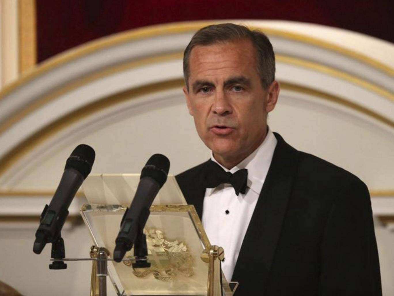 Mark Carney was speaking at his first Mansion House speech since becoming governor