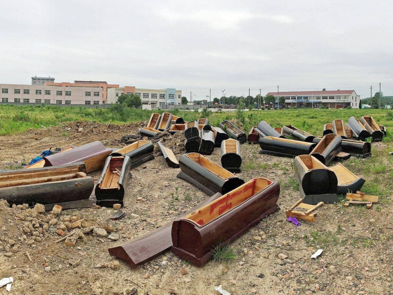 A ban on burials kicked in at the beginning of June in Anhui province