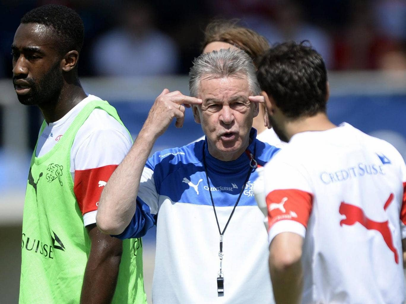 The experienced Switerland coach, Ottmar Hitzfeld, believes his team has the ability to qualify out of the group stage in Brazil