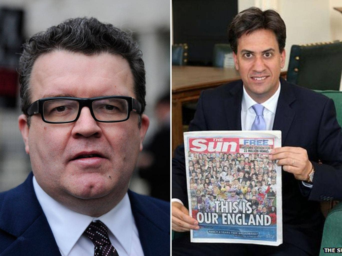 Tom Watson was outspoken in his criticism of Mr Miliband's decision to pose with a copy of the Sun