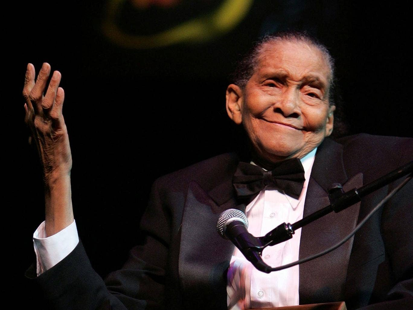 Jimmy Scott speaks after accepting a NEA Jazz Master award during the 17th Annual NEA Jazz Masters awards and concert on 12 January, 2007, in New York City