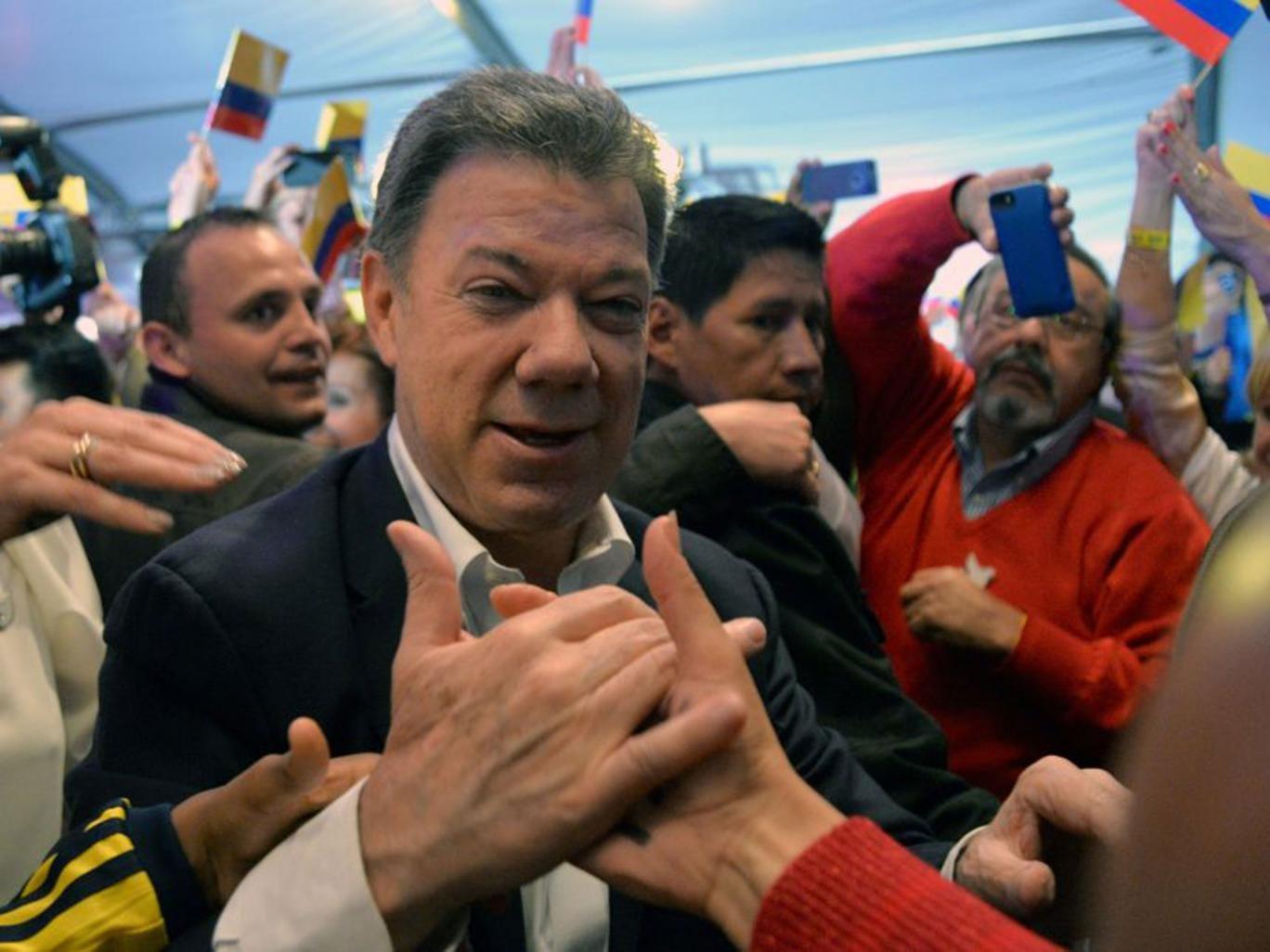 Juan Manuel Santos won nearly 51 per cent of the vote