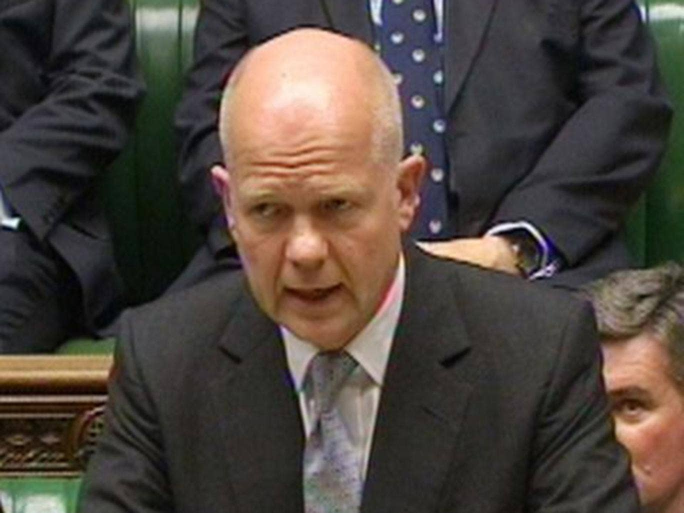 William Hague speaking in the House of Commons