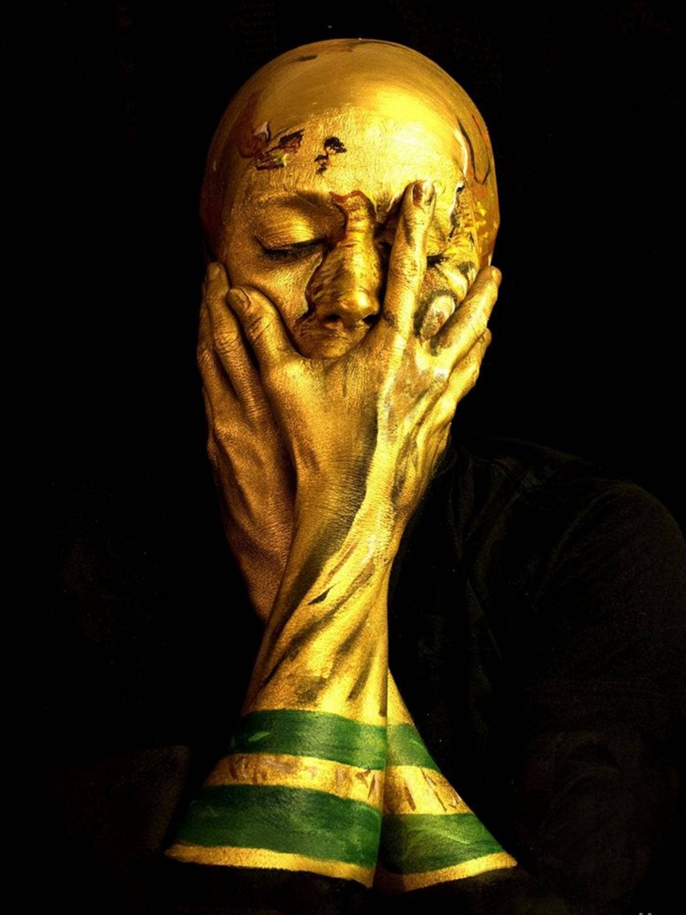 London artist Emma Allen has painted herself as the World Cup