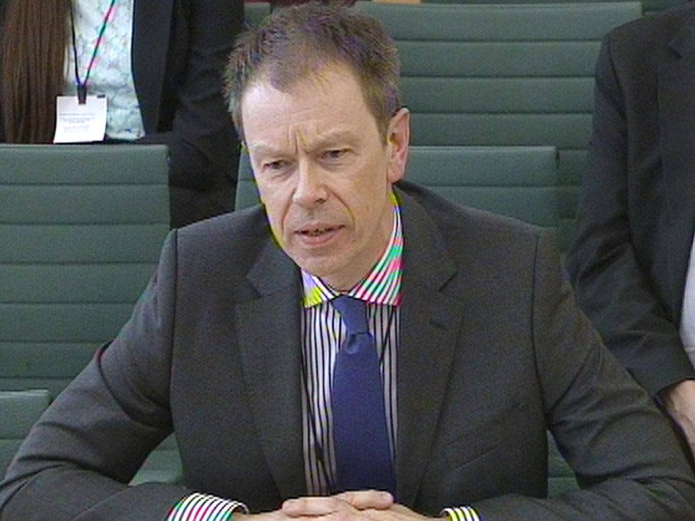 The head of the Passport Office, Paul Pugh gives evidence to Commons Home Affairs Committee