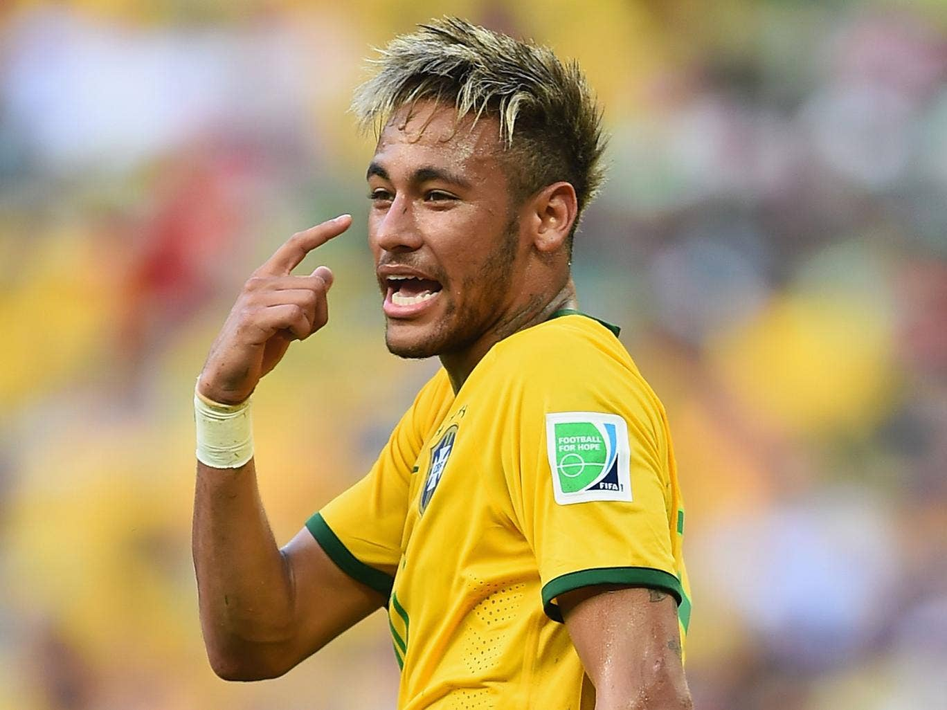 Neymar pictured against Mexico