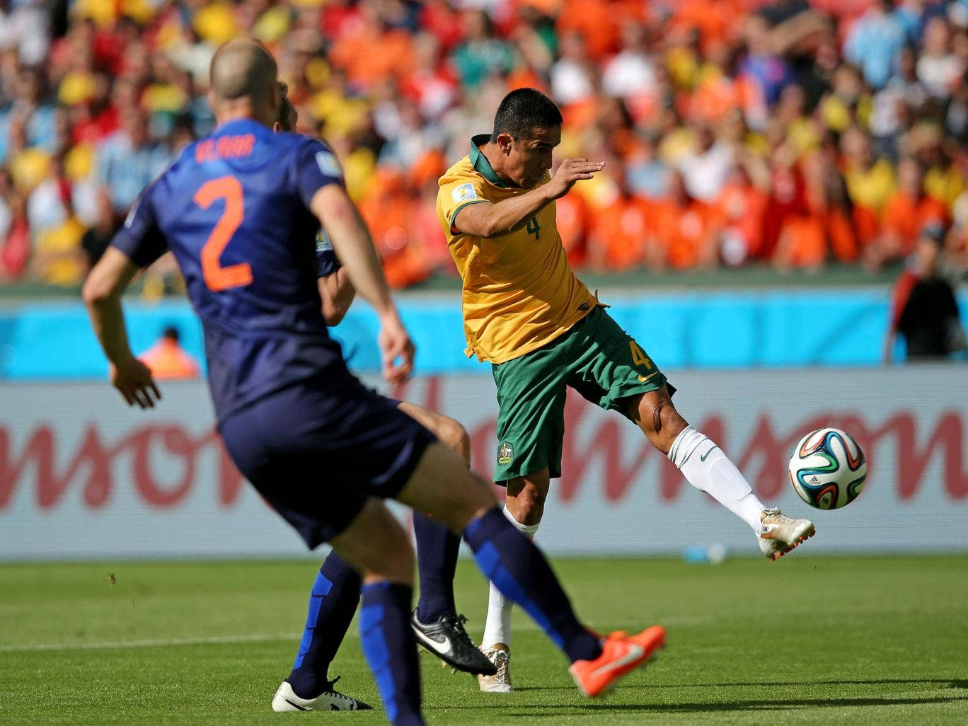 Tim Cahill scores a wonderful volley for Australia