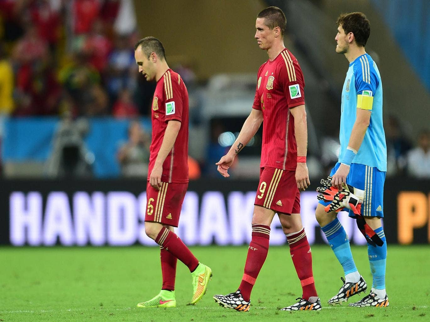 Spain are out of the World Cup after a 2-0 defeat to Chile