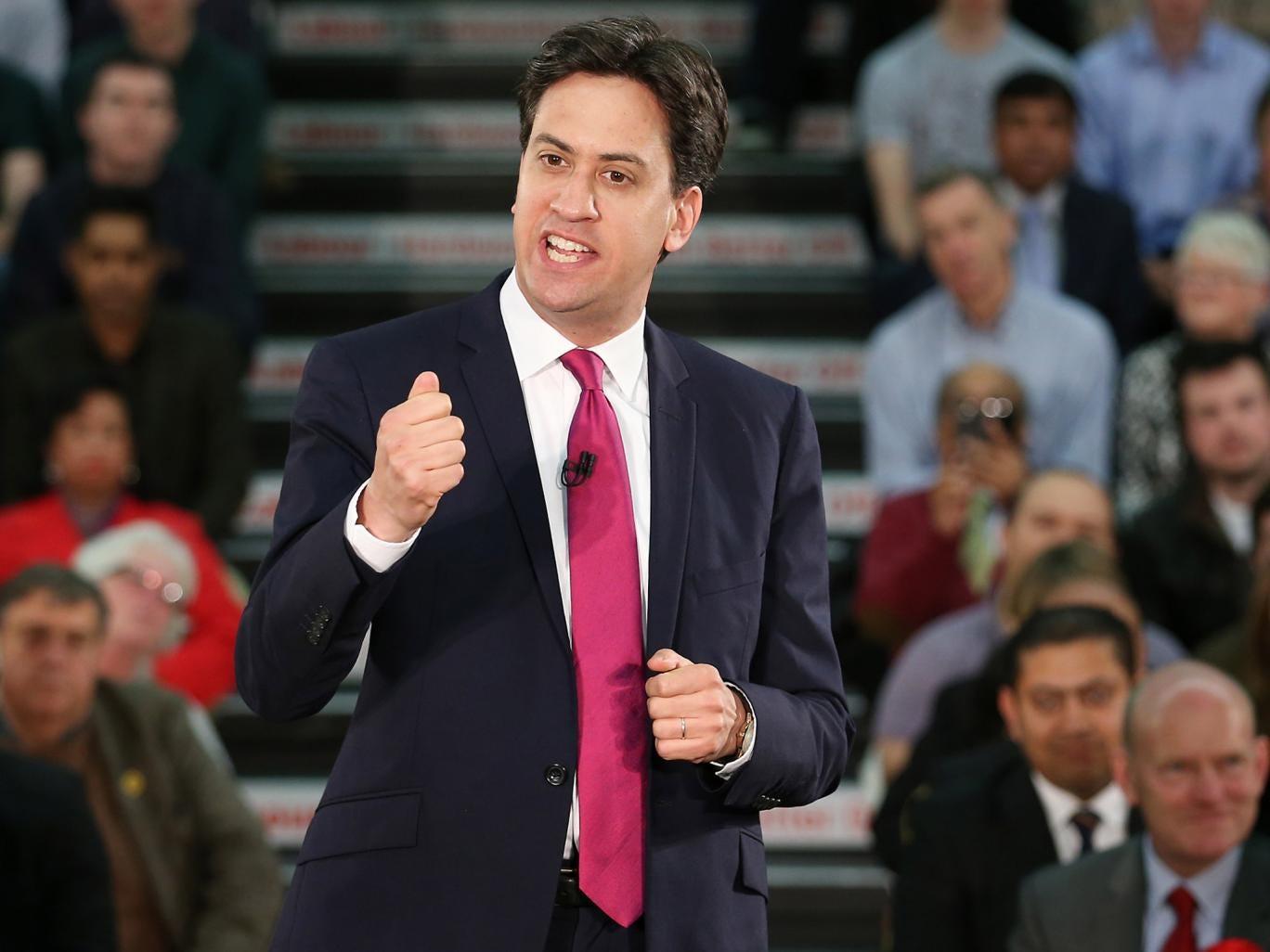 Tough love: Labour leader Ed Miliband