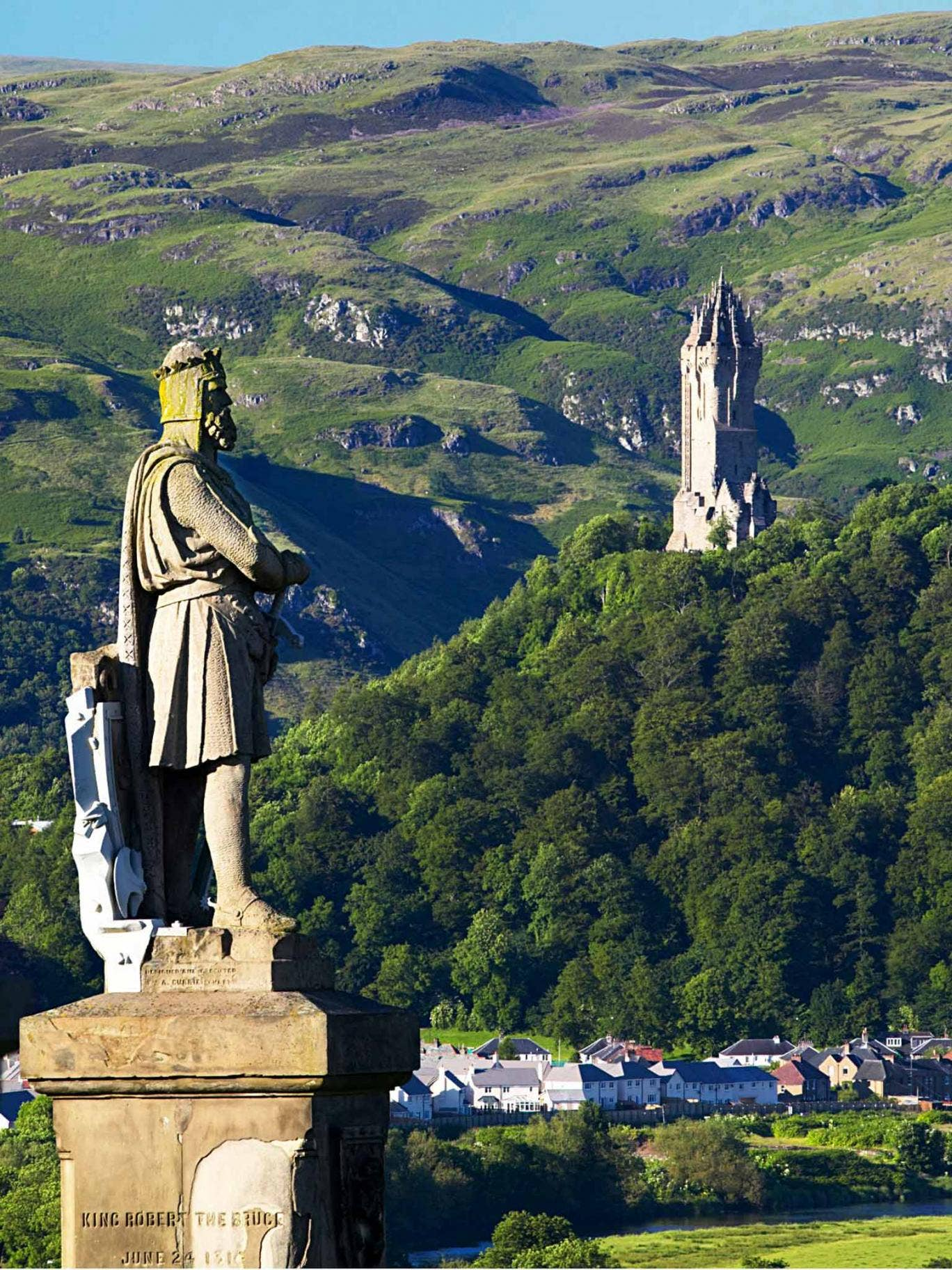 King and country: the view from Stirling Castle to the Wallace Monument