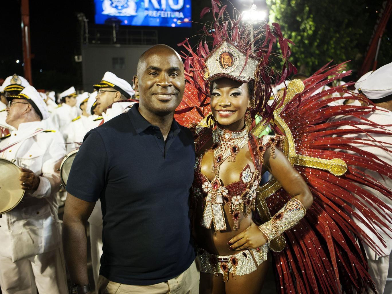 Robert Beckford attends Carnival in Rio de Janeiro in Seven Wonders of Brazil