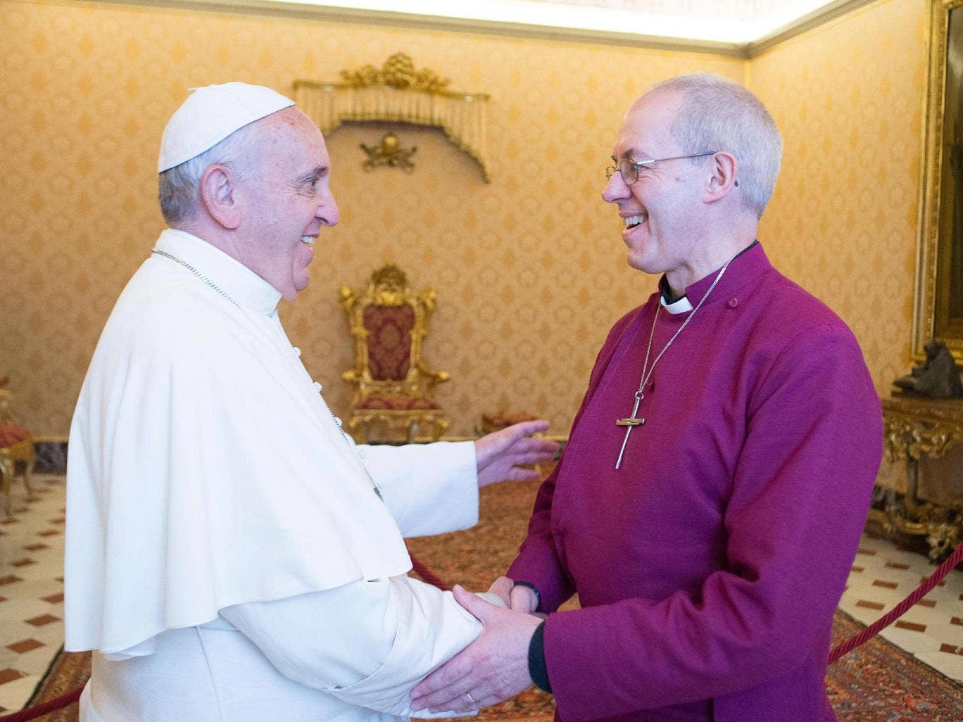 The Pope and the Archbishop of Canterbury, seen at the Vatican this week, have much in common and are clearly not content to 'agree to disagree'
