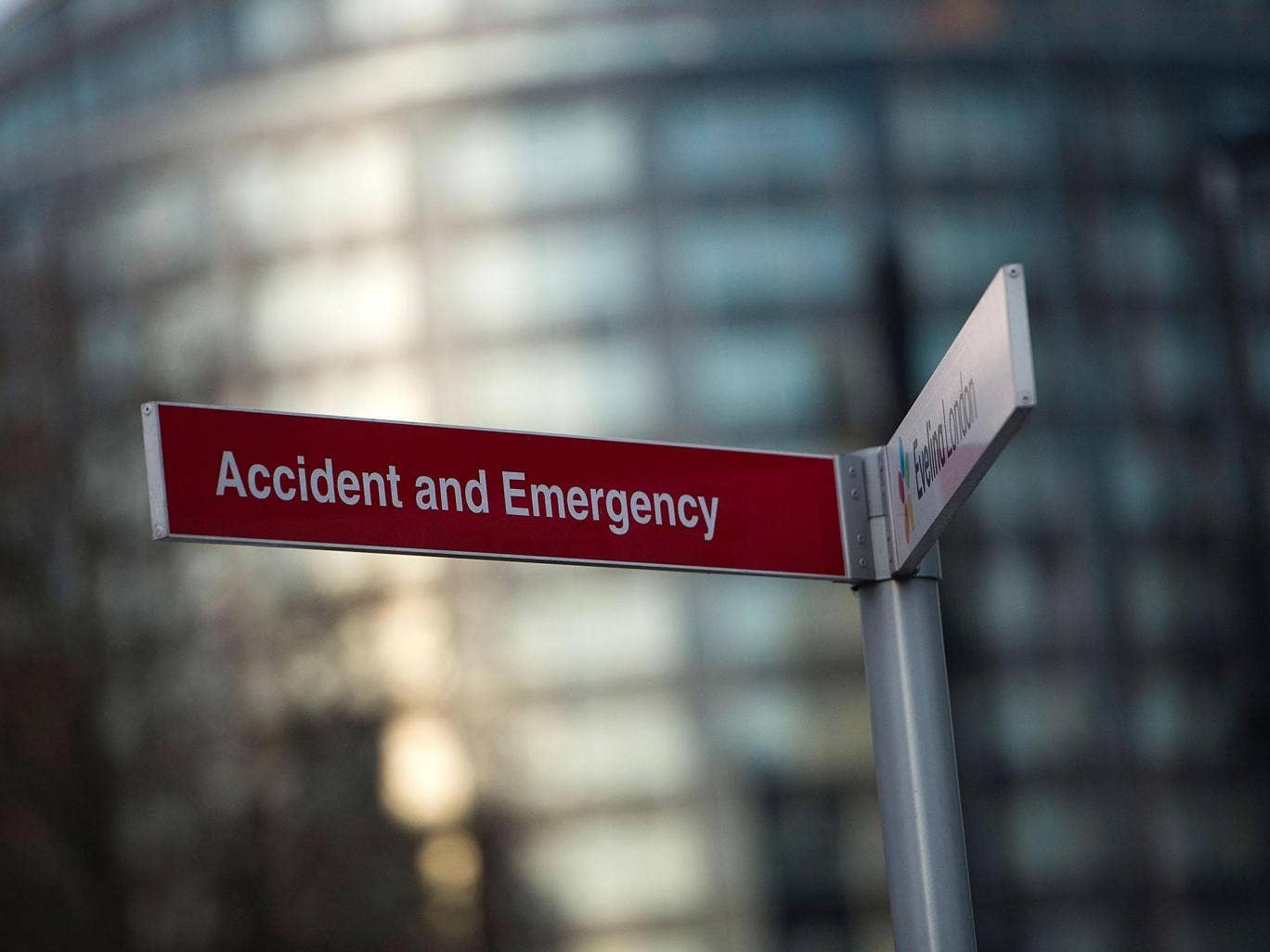 Admissions to hospitals from major A&Es are nearly five per cent higher than at the same time last year