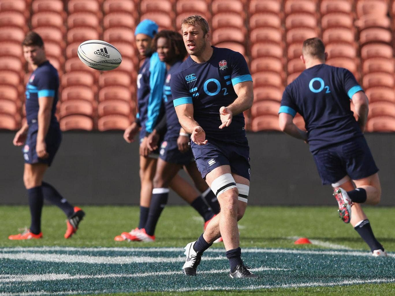 England captain Chris Robshaw during training yesterday ahead of this morning's final Test