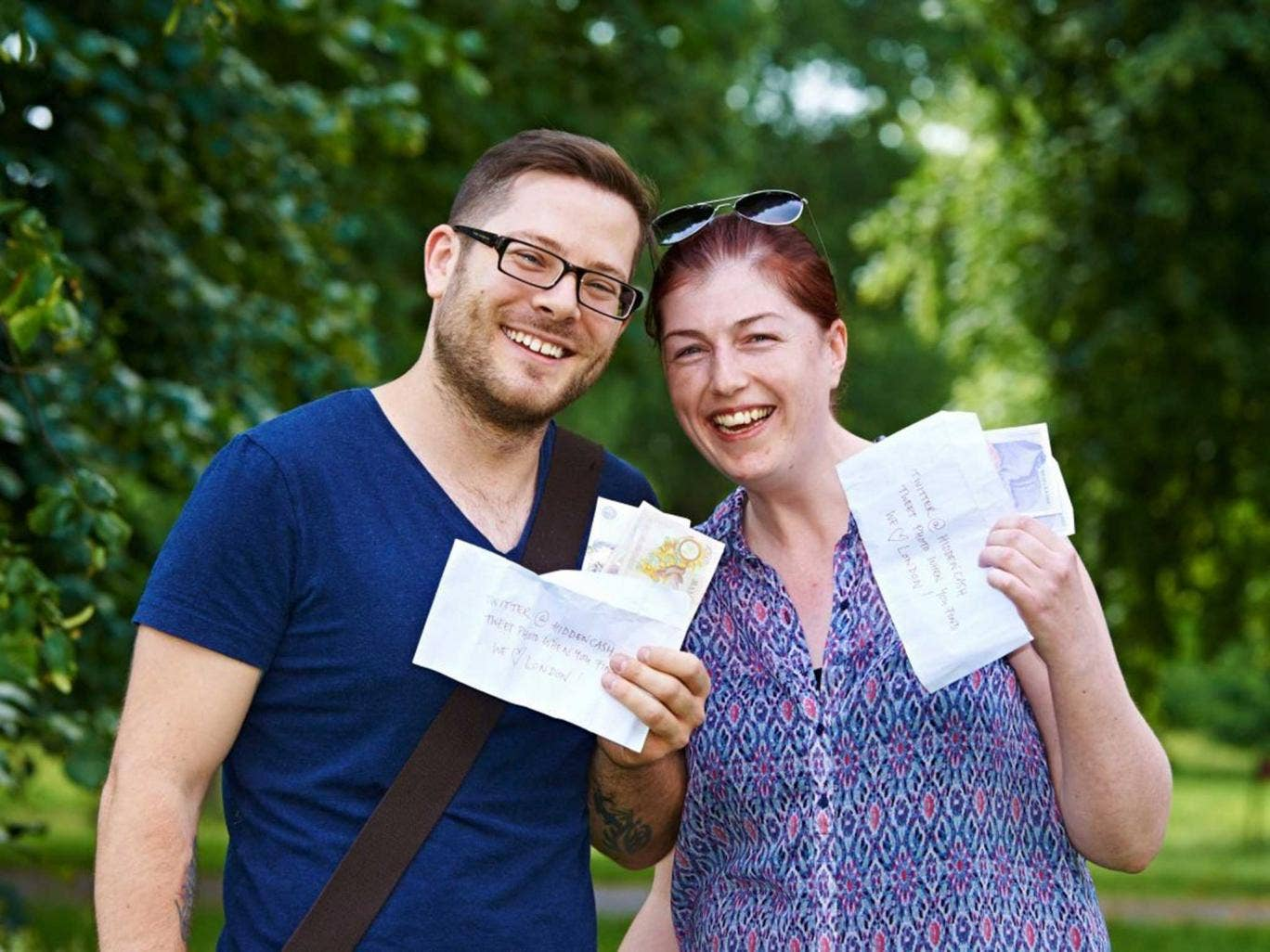 Quids in Adam Mills and Jane Fletcher were among the lucky cash hunters