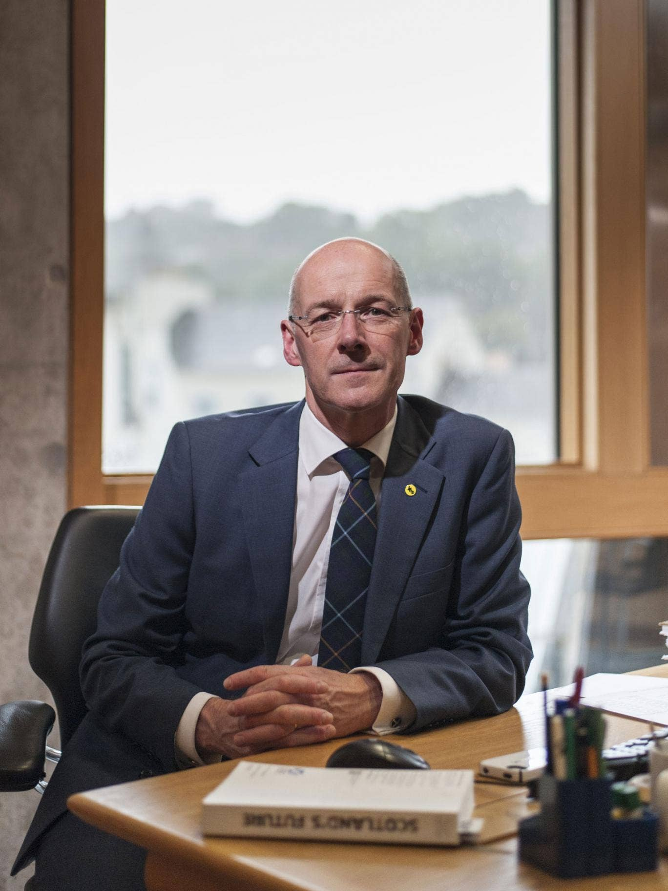 John Swinney, also Holyrood's finance secretary, repeated the tactics of Nicola Sturgeon's conference address on Saturday, when he both attacked Labour for supporting George Osborne's recent budget, and then offered a series of campaign initiatives that
