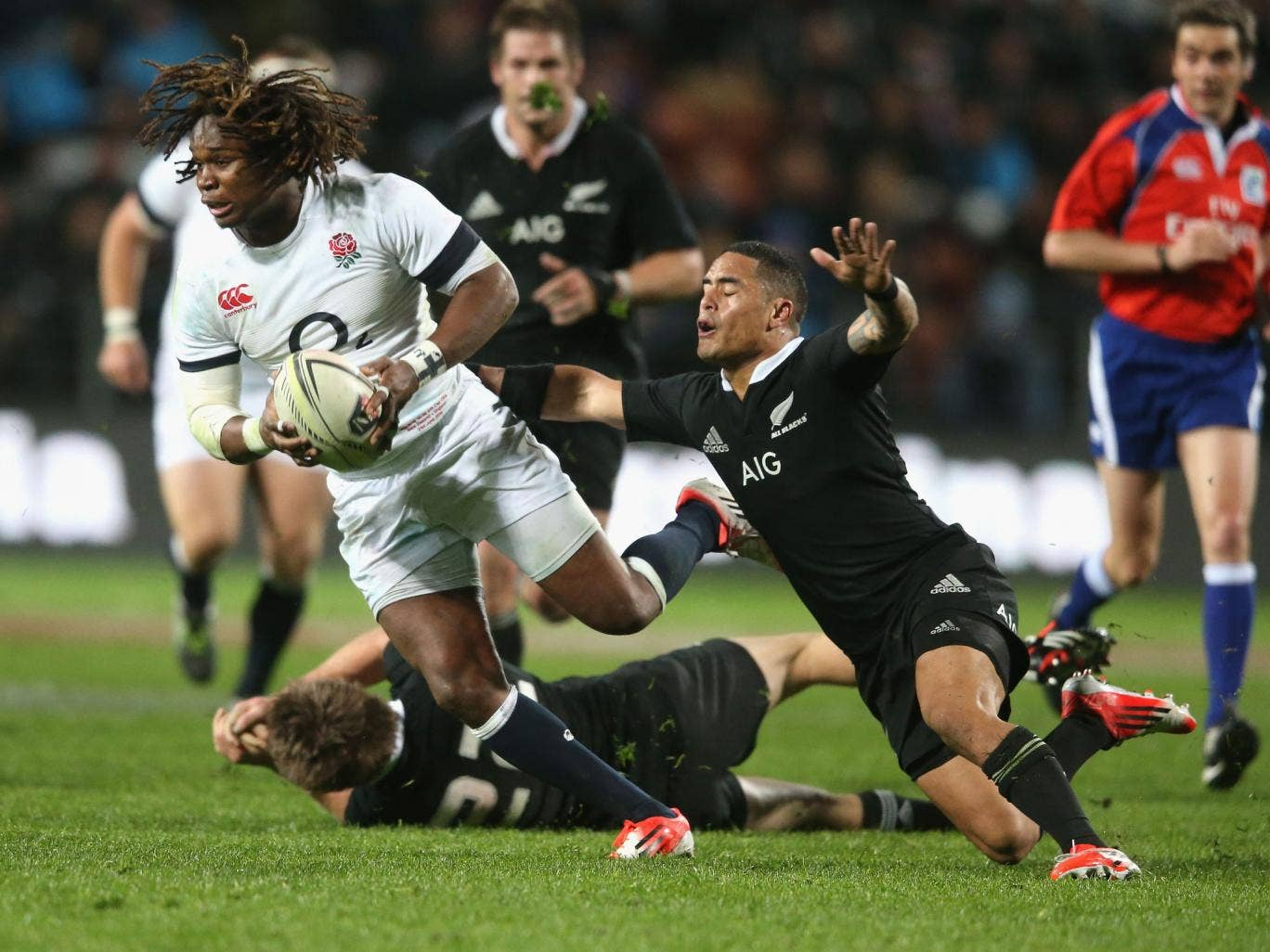 Marland Yarde was among those England players who responded well to a half-time rollicking in Hamilton