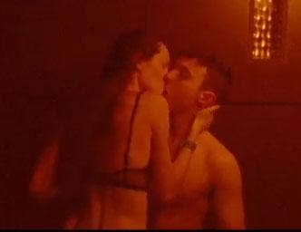 In another scene from the video, the young couple are seen kissing passionately in a nightclub