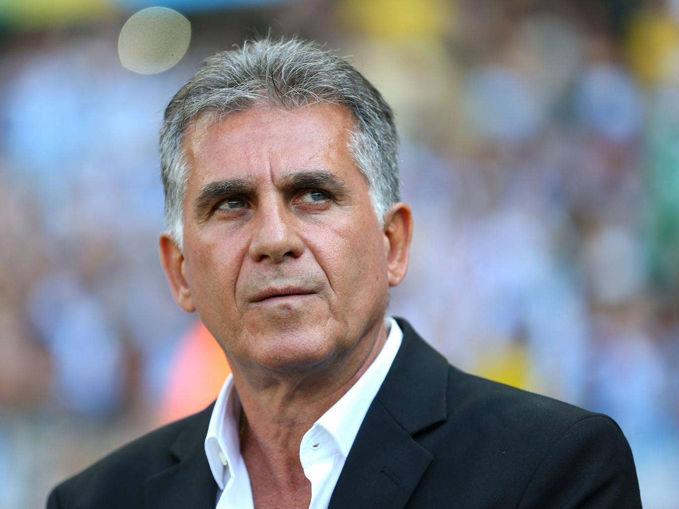 Iran coach Carlos Queiroz looks on from the touchline