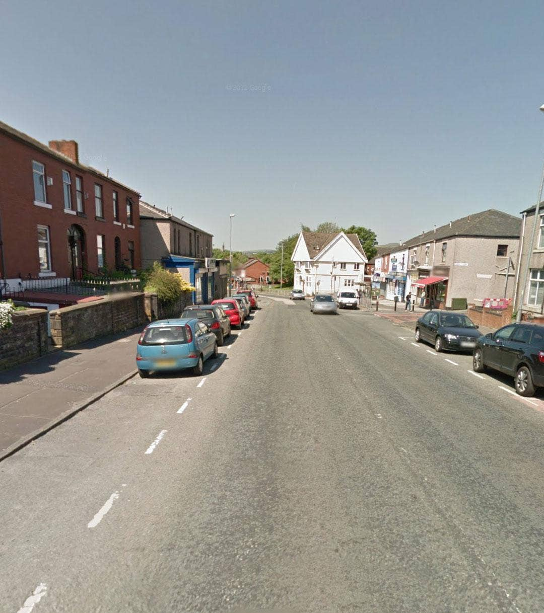 Greater Manchester police have appealed for information after a 90-year-old woman was dragged off the street on Spotland Road (pictured) as she walked to her local shop in Rochdale and raped.