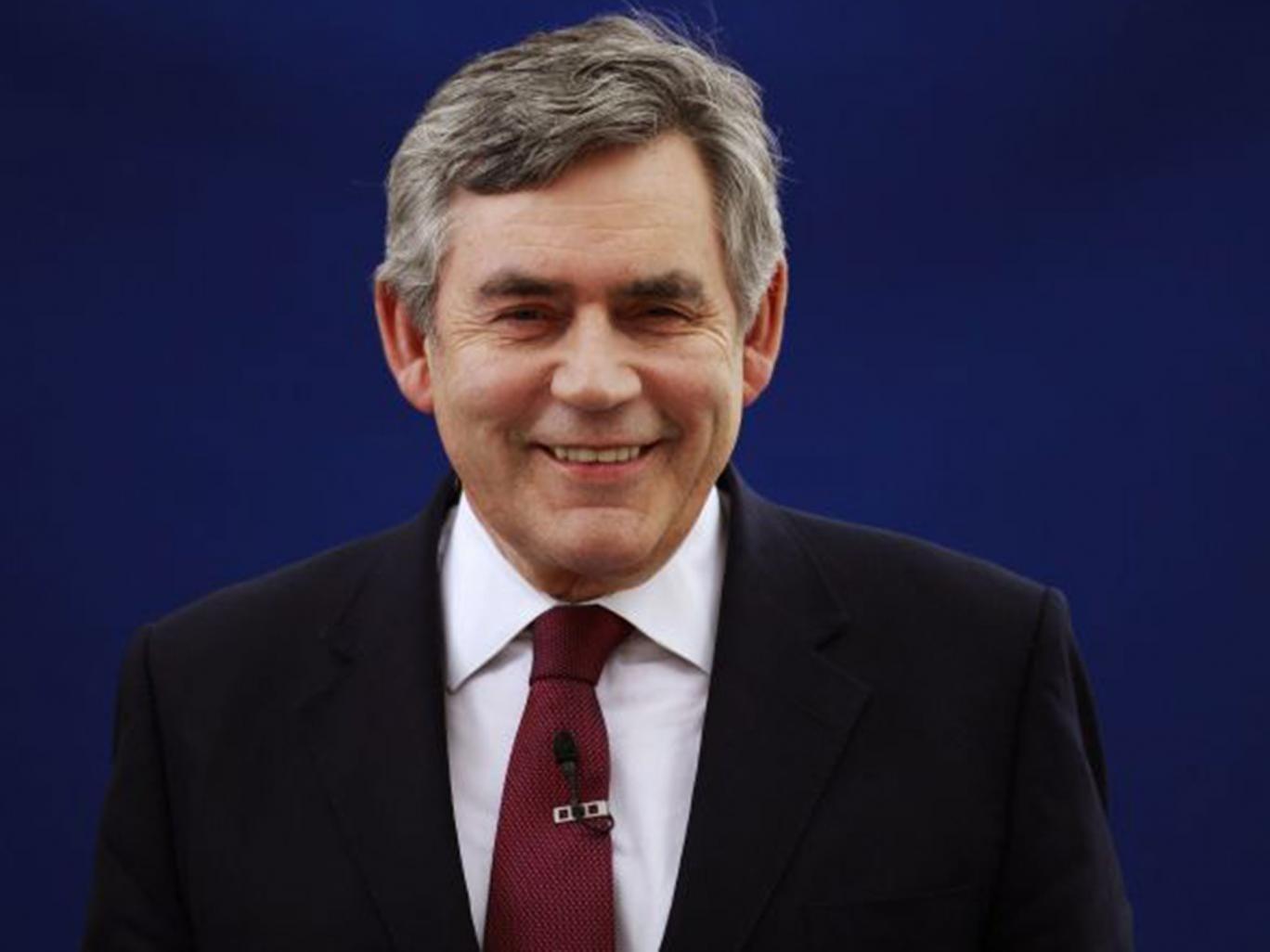 Gordon Brown: admission
