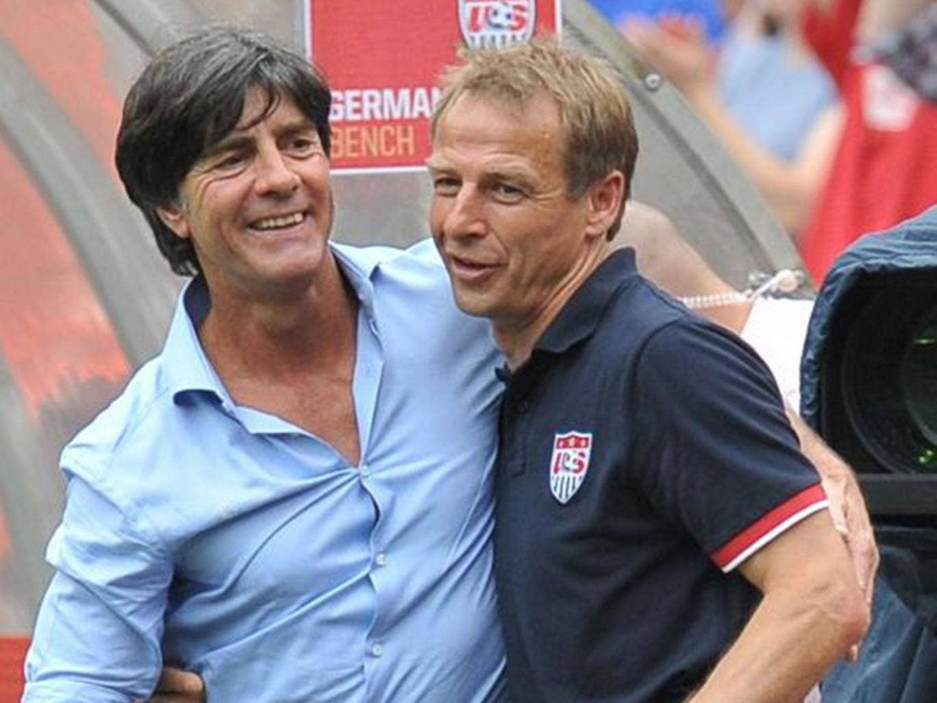 Photo of Jurgen Klinnsman & his friend  Joachim Löw
