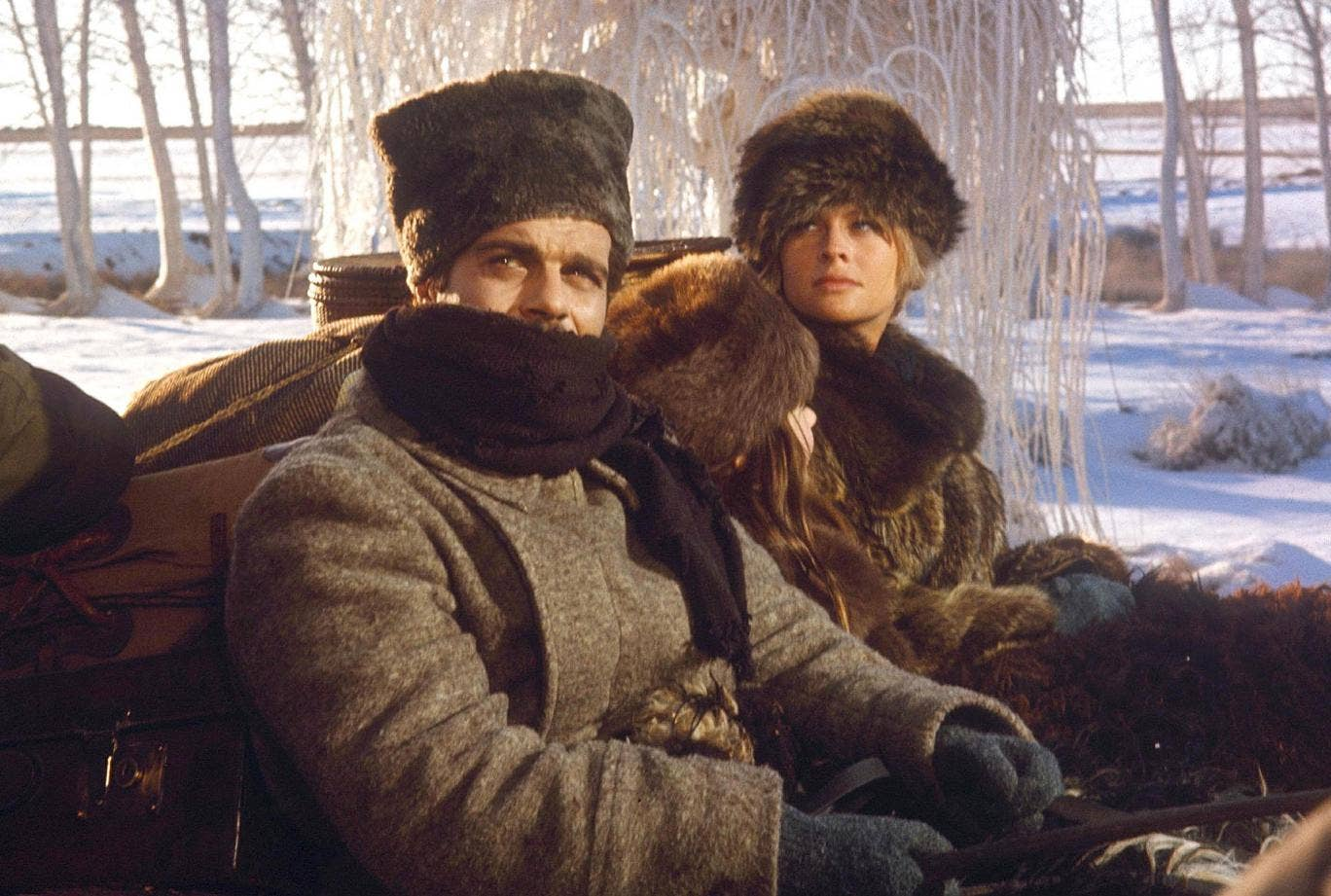 Fur fight: the film version of 'Dr Zhivago', starring Omar Sharif and Julie Christie, is the eighth highest grossing movie of all time