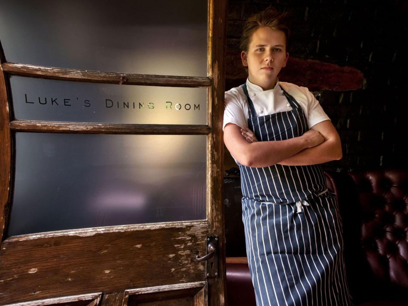 Junior masterchef: Luke Thomas at his restaurant, recently named the best in Berkshire